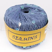 Knitting Fever Sequins - Blue (Color #05) - FULL BAG (5 Balls)