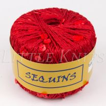 Knitting Fever Sequins - Cherry (Color #06) - FULL BAG (5 Balls)