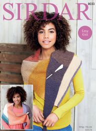 Sirdar Colourwheel Wrap - Pattern #8003 - Free with orders of One Sirdar Colourwheel Purchase/Please add to cart (Pdf File)