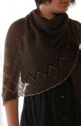 Beaded Lace Shawl by TribbleKnits - A Dwonloadable pattern.