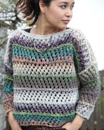 Lace Sweater (Free Download with a Noro Ginga purchase of 5 or more skeins)