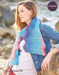 Zig Zag Crochet Scarf - Pattern #8224 - Free with orders of One Sirdar Colourwheel Purchase/Please add to cart (Pdf File)